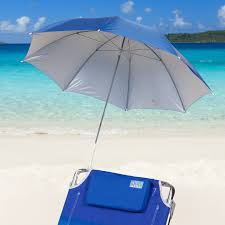 Chair Umbrellas With Clamp Rio 4 Ft Blue Clamp On Beach Umbrella Hayneedle