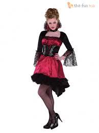 ladies vampire costume long womens vampiress halloween fancy dress