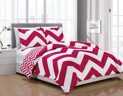 Down Alternative Comforter Sets Piece Chevron Pink White Reversible Down Alternative Comforter Set