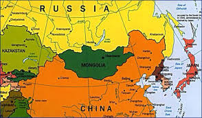 Map Of Russia And China by Mongolia By Nelly Vega