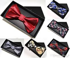 tie box gift mens bowtie bow tie set pre adjustable neck bow tie and gift