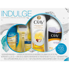 Bath And Shower Sets Olay Indulge Shower Collection With Venus Gift Set 4 Pc Walmart Com