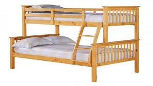 Single Top Double Bottom Pine Bunk Bed Homegenies - Single double bunk beds
