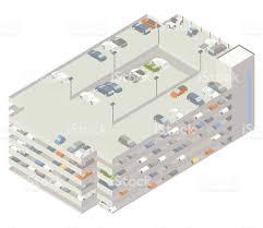 parking garage lighting levels multilevel parking garage illustration stock vector art more