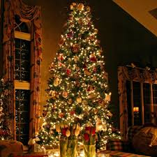 download wallpaper 2048x2048 christmas tree ornaments fireplace