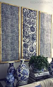 Bamboo Ideas For Decorating by Gold Bamboo Frames With Navy Blue Chinoiserie Fabric Timeless