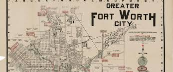 Austin City Limits Map by Greater Fort Worth City 1919 U2013 Save Texas History U2013 Medium