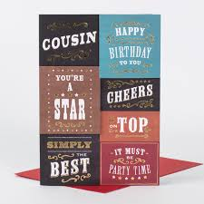 birthday card cousin simply the best only 99p