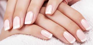diy french manicure at home short nails without strip with tape