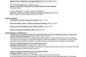 Sample Speech Pathologist Resume by Pathologist Resume Speech Pathology Resume Resume Badak Download