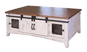 white farmhouse coffee table amazon com rr anton farmhouse cocktail solid wood distressed white