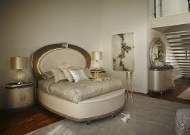 Aico Bedroom Furniture by Upholstered Bed In Creamy Pearl Finish