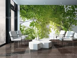 wall murals posters green forest mcp1178en artpainting4you eu green forest nature wall murals with a tree with green leaves in the spring
