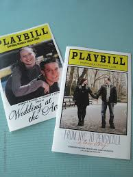 playbill wedding program vicki s deco wedding and disneymoon may 29 2011