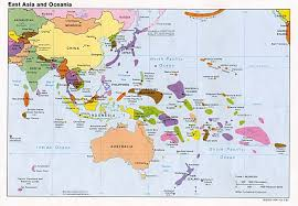 map of countries of asia oceania political map countries