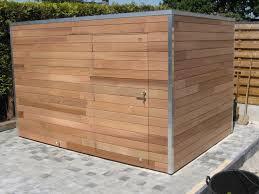 fabriquer cache poubelle terrasse jardin toit plat car port a toiture plat terrasse car