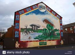 mythological wall paintings stock photos mythological wall eire mythological queen ardoyne republican wall mural painting west belfast northern ireland stock image