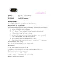Resume Shipping And Receiving Shipping And Receiving Duties Resume Resume For Your Job Application