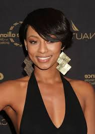 short hairstyles with bangs for black women medium hairstyles