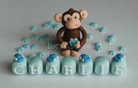 monkey cake topper monkey christening birthday cake topper set to purchase my flickr
