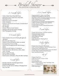 bridal wedding planner the bridal shower checklist events treats