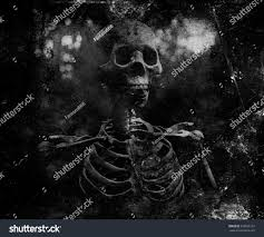 grunge vintage scary wallpaper skeleton horror stock photo