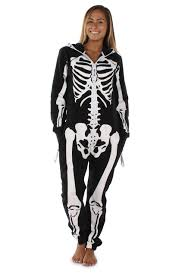 women u0027s white and black skeleton jumpsuit tipsy elves