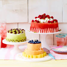 how to make a cake make a fresh melon cake with watermelon honeydew or cantaloupe
