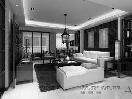 black white interior chairs living room elegant modern designs pictures open with