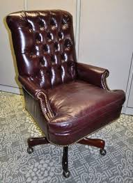 tufted leather desk chair superior install used office furniture