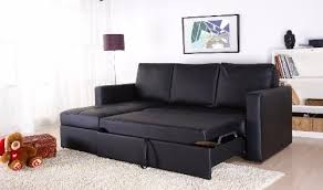 Faux Leather Sectional Sofa With Chaise Black Faux Leather Sectional Sofa Bed With Left Facing Storage