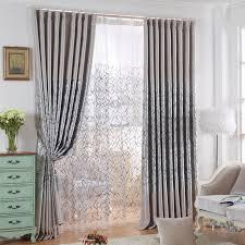 Patterned Window Curtains Modern Geometric Patterned Gray Window Curtains