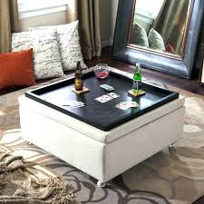 leather ottoman with storage rothwell leather storage ottoman