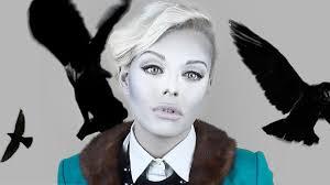 white face halloween makeup black and white film noir makeup tutorial youtube