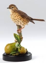 thrush bird ornaments country artists bird figurines thrush