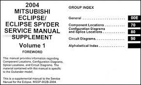 2004 mitsubishi eclipse u0026 spyder wiring diagram manual original