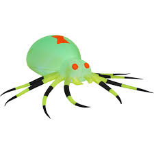 inflatable spider halloween gemmy airblown inflatable 3 5 u0027 x 11 5 u0027 giant neon green spider