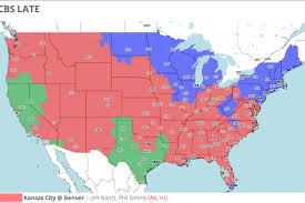 Kansas Map Denver Broncos Vs Kansas City Chiefs Tv Broadcast Map Nfl Week