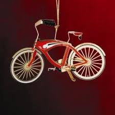 bicycle 24k gold brass ornament home