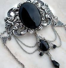 crystal choker necklace set images Gothic jewelry set with black swarovski crystal choker and jpeg