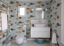 funky bathroom wallpaper ideas 20 designs of stylish bathroom wallpapers home design lover