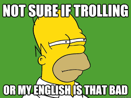 Trolling Memes - not sure if trolling or my english is that bad not sure if homer