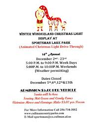 sportsman lake park cullman al christmas lights winter wonderland christmas light display 2016