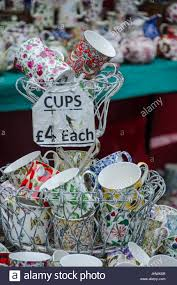 mugs for sale at portobello road market in notting hill london