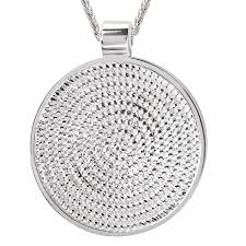 round necklace images Shop avanti sterling silver rope round pendant necklace on sale jpg