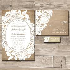 invitation kits for wedding burlap and lace wedding invitations marialonghi com