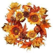 fall garland u0026 wreaths fall decorations the home depot