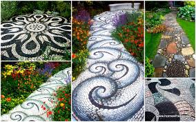 backyard landscaping ideas 15 magical diy pebble paths that seem