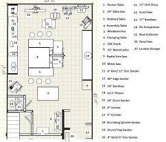 Wood Shop Floor Plans 25 Model Woodworking Shop Size Egorlin Com