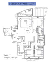Singapore Floor Plan Floor Plan The Solitaire At Balmoral Park By City Developments Ltd